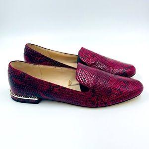 Zara Collection | Snake Python Rhinestone Smoking Loafer Flats Size 40 EU 9 US